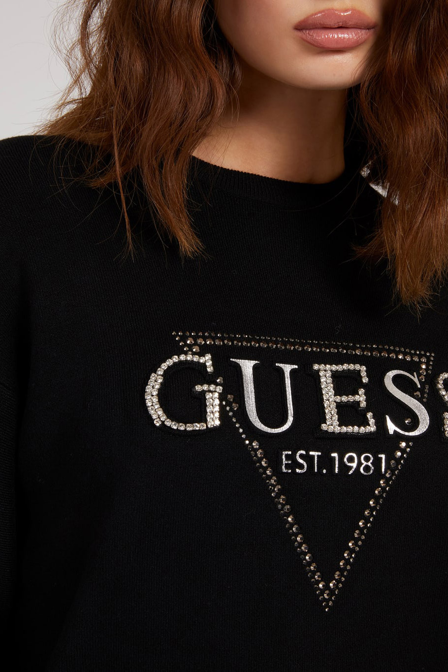 Guess negre pulover Beatrice