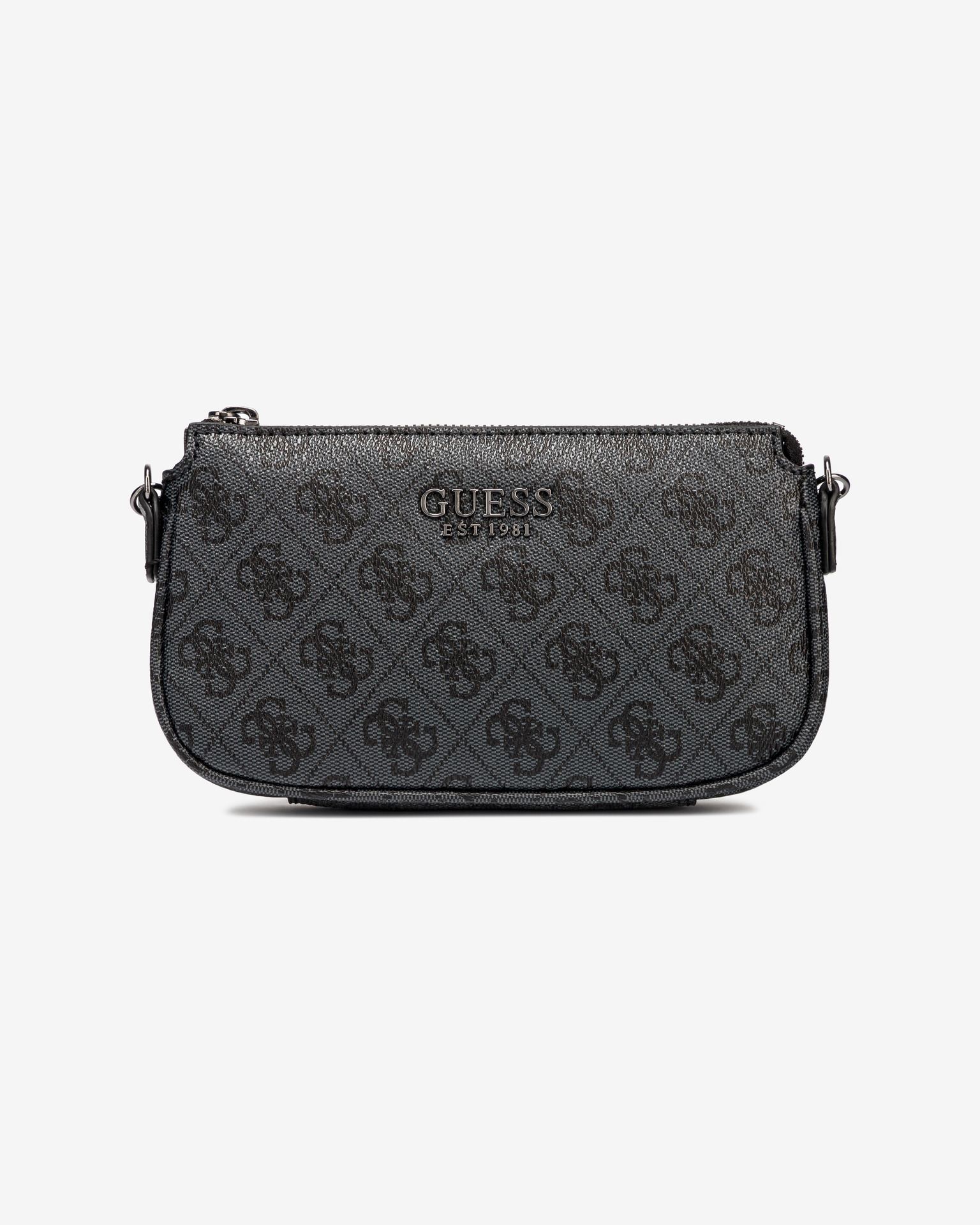 Guess negre 2in1 crossbody geanta Mika Double Pouch