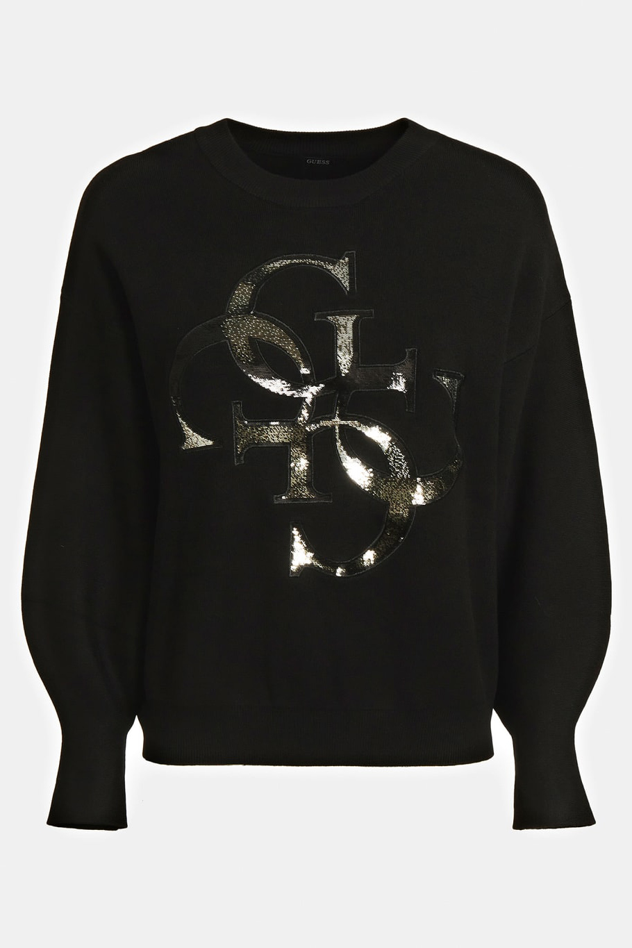 Guess negre pulover 4G Logo Embroidery Sweater Black