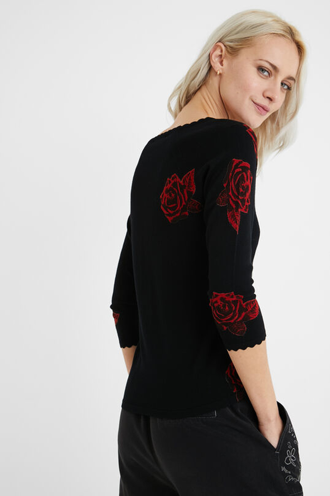 Desigual negre pulover Jers Weser