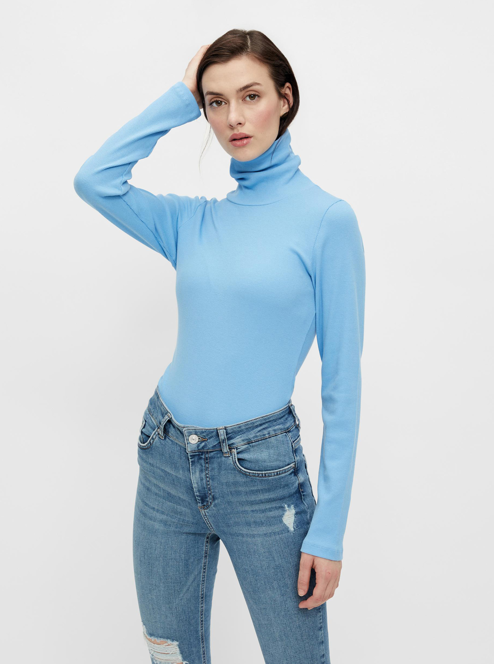 Pieces albastre de dama turtleneck Anna