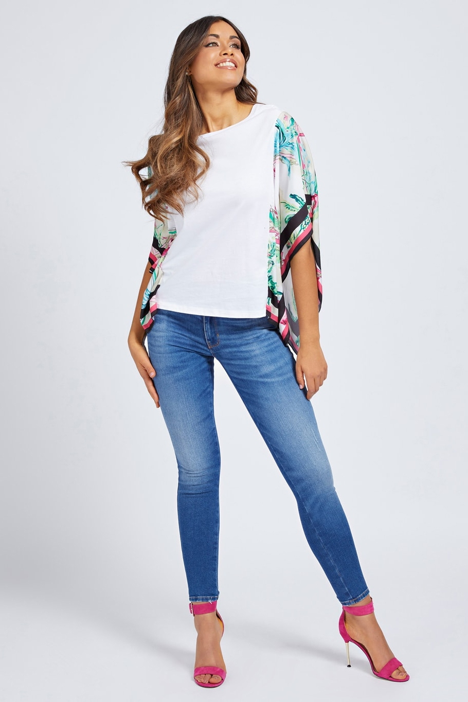 Guess albe tricou Lindsey Tee